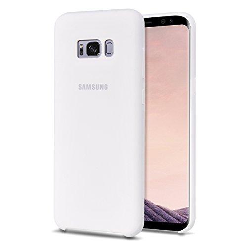 """MOONCASE Samsung Galaxy S8 Hülle, S-View Durable Rüstung Defender Handyhülle Anti-Kratzer Elastische Stoßfest Schutzhülle Cover für Samsung Galaxy S8 5.8"""" (2017) Weiß"""