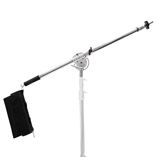 pixapror-super-heavy-duty-stainless-steel-durable-metal-hinge-120-220cm-studio-telescopic-boom-arm-2