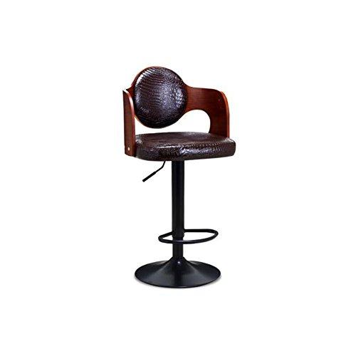 CJC Tabourets de Bar Restaurant Chaise de café Haute Pied Rétro Rotation (Couleur : Marron)
