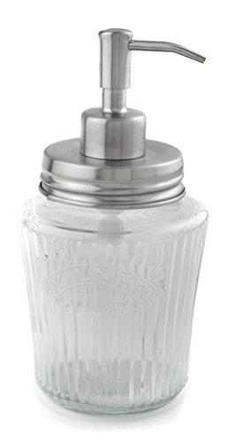 EcoJars Silver Vintage Soap Dispenser, Glass Jar, Kilner, Stainless Steel 304, 500 Milliliter, Handwash
