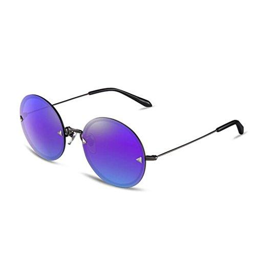 SHULING Sonnenbrille Das Mädchen, Kreis, Nicht-Polarisierten Sonnenbrillen Sonnenbrillen Mode Brille, Gun Box/Lila Chip
