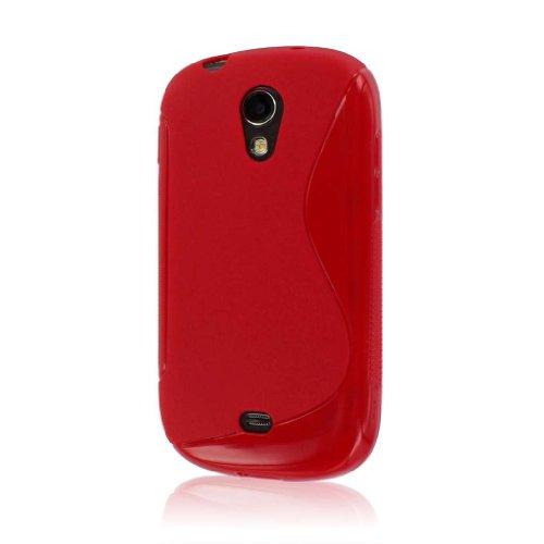 MPERO Flex S Series Schutz Case Tasche Hülle for Samsung Galaxy Light T399 - Red (T399 Cover Samsung Für)