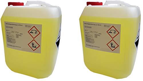 Chlorbleichlauge Natriumhypochloritlösung 12{8cde85948f8da3585c9aab4c3b9e9c467b3a8718955eab0af9d9379b8a2c4d67} 2x12 kg Aktiv Chlor flüssig UN1791
