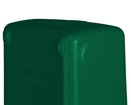 Ondis24 Slim Wandtank 300 L Regentonne Wassertank Dunkelgrun Mit