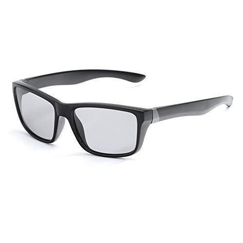 CCGSDJ Ändern Sie Farbe Photochrome Sonnenbrillen Männer Frauen Polarisierten Sonnenbrillen Chameleon Blendschutz Fahren Männlich Sicherheit Fahren Gläser