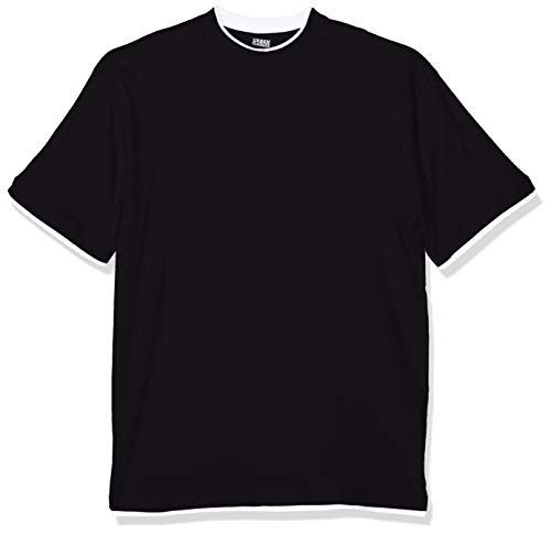 Urban Classics TB029A Herren T-shirt Bekleidung Contrast, Schwarz (Schwarz/White), 5X-Large - 5xl 5x T-shirt