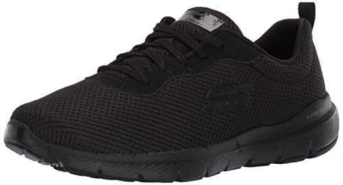 Skechers Damen Flex Appeal 3.0-First Insight Sneaker, Schwarz (Black 13070-bbk), 9 EU - Memory-foam