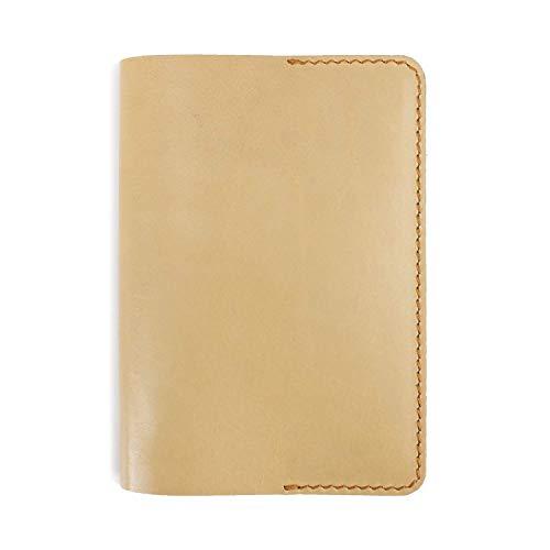 A6 nachfüllbares Tagebuch Reisetagebuch aus Leder (Gelb) -