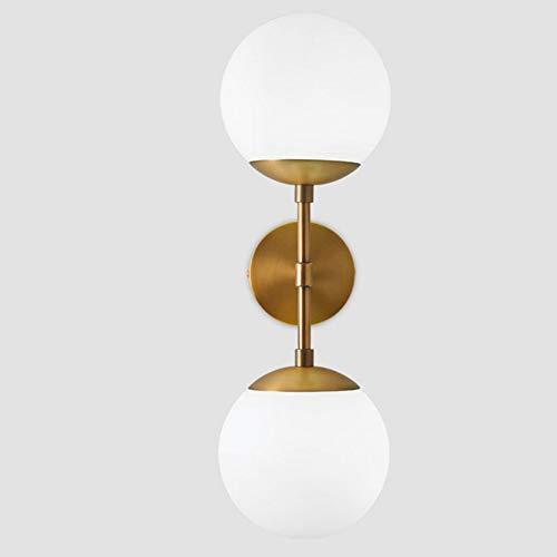 INJUICY Moderno Cobre Vaso Globo Apliques de Pared Lámparas Balón Latón Molecular Bañadores de pared...