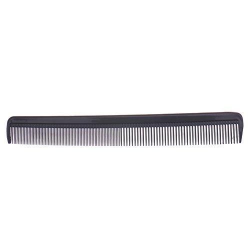 Set 10 Peigne Plastique Noir Antistatique pour Salon Coiffure Barbier Cheveux