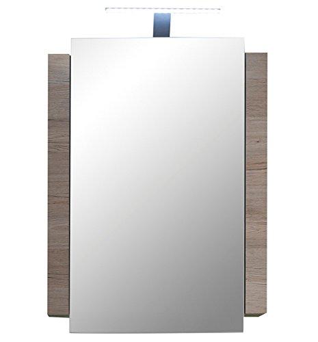 trendteam CP50391 Badezimmerspiegelschrank Eiche San Remo Nachbildung, BxHxT 60x80x15 cm, weiß