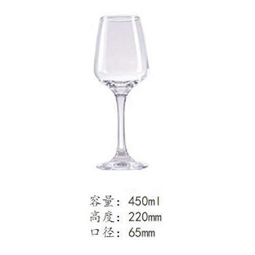 Glass red wine glass, red wine glass, lead-free, transparent goblet, red wine glass, set, gift box, 300-400ml@450ml - Lead-free Crystal Stemware