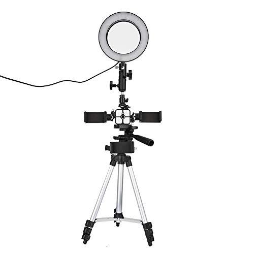 Preisvergleich Produktbild VBESTLIFE LED-Ring-Rundumleuchte mit Zusatzbeleuchtung,  16cm,  240 Super-Hervorhebungsperle Fotografie Dimmbar,  Beauty Live Camera Fototelefon-Videoring-Fülllicht-Set<br / >