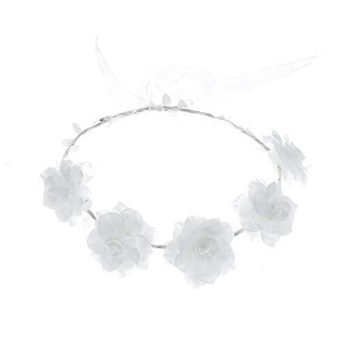 Oyedens Rose Blumenstirnband, Foto-Hochzeitsfeiertagsstirnband Der Frischen Blume Der Frauen Karneval Perücke Kinder