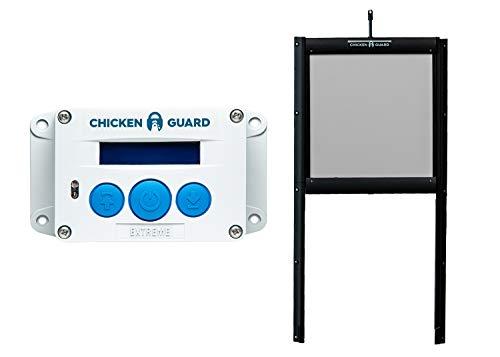 Chickenguard® extreme automatic chicken coop - kit per aprire porta e porta autobloccante, resistente ai predatori