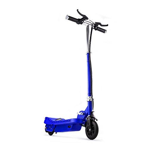 Unbekannt Takira V6 E-Scooter Elektroroller (16 km/h Höchstgeschwindigkeit, Umweltfreundlich, 120 Watt Elektro-Motor, klappbar, bis zu 16 km Reichweite, mit LED) Blau