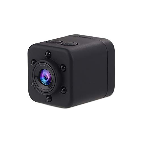 LXYFMS HD 1080P Kamera Mini Spion Versteckte Sport Mini DV Recorder Spion Kamera Mit Bewegungserkennung Sicherheit Und Nachtsicht (Color : Black) -