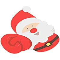LoveOlvidoD 50 Stück Weihnachten Papierkarte Lutscher Dekoration Papierkarte für DIY Weihnachtsdekoration