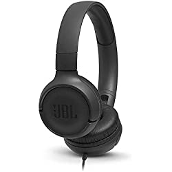 JBL Tune500 - Casque supra-auriculaire avec fil - Léger et pliable - Écouteurs confortables - Avec commande mains libres - Microphone intégré - Noir