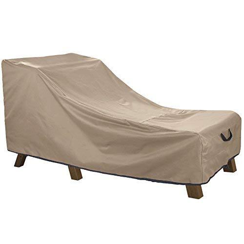 ULT Bezug 100% Wasserdichte Terrassenliege Gartenstuhl-Abdeckung strapazierfähig Outdoor Veranda Chaise Lounge Überzug, 68