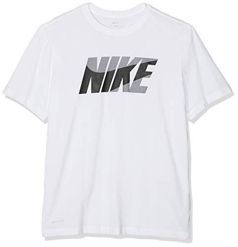 Nike Herren Dry DFC Block T-Shirt, White/Black, L -