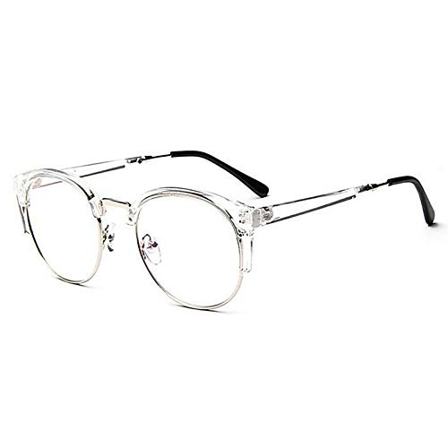 VIWIV Anti-Radiation Brille Plain Brille Fashion Women Metal + Plastic Halbkreis Rahmen Brille Optisch Bunt,1