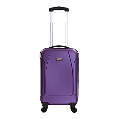 Karabar Evora 55 cm Hard Suitcase, 10 Years Warranty! (55 cm, Obsidian Black)