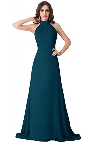 Sunvary Sexy retro aperto Halter una linea Pageant Gowns sera sera, varie taglie Navy blue