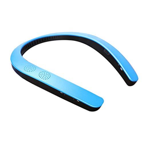 OPAKY Bluetooth 5.0 Wireless Halsbandhals-Lautsprecher FM AUX SD USB Stereo für iPhone, Samsung usw.