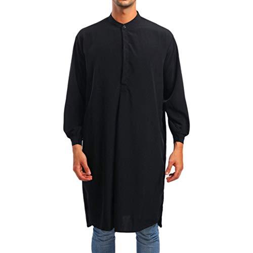 Yying Herren Muslimische Roben Ethnischer Kleidung Langes Hemd Nahen Osten Saudi-Arabien Traditionelle Kostüm Dubai Kaftan Abaya Langarm - Saudi Arabien Kostüm Männer