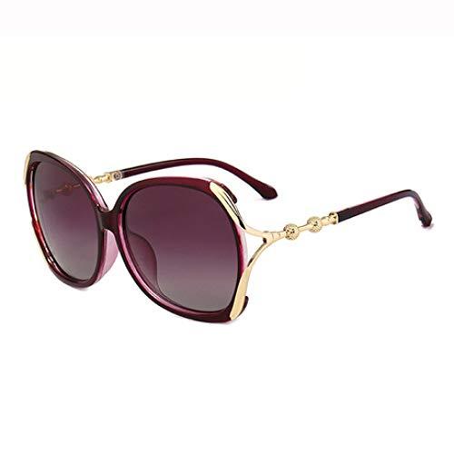 Hjyi Sonnenbrillen Polarisierter Retro Großer Rahmen uv400 UV-Schutz Damen Farben markantem halbrahmen gläser Elegante getönt Klassische Outdoor trendigen reflektierende Vintage