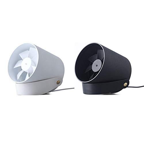 Mini Ventilateur de Bureau Ultra Silencieux USB rechargeable Ultra Silencieux Ventilateur de Table Portatif, avec Interrupteur tactile réglable à 2 niveaux, rotatif à 360 degrés, pour les déplacements