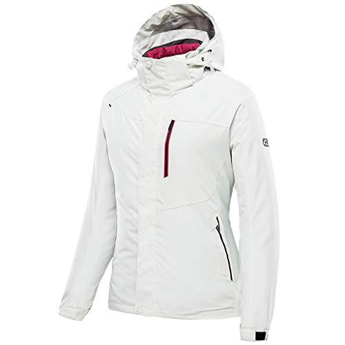 Zilee giacca da donna - cappotto da sci antivento caldo giacca a vento 3 in 1 tuta da nevebiancheria intima di lana per sciare escursionismo alpinismo viaggiare