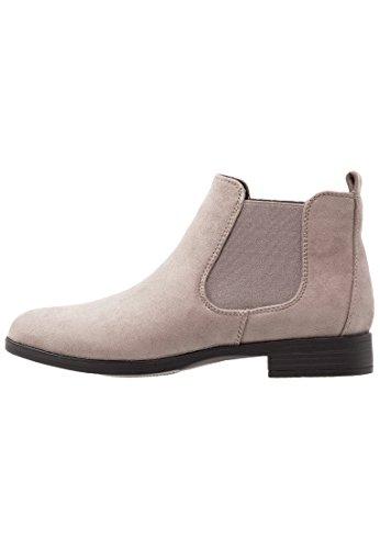 Anna Field Damen Chelsea Boots ohne Absatz in Grau, 37