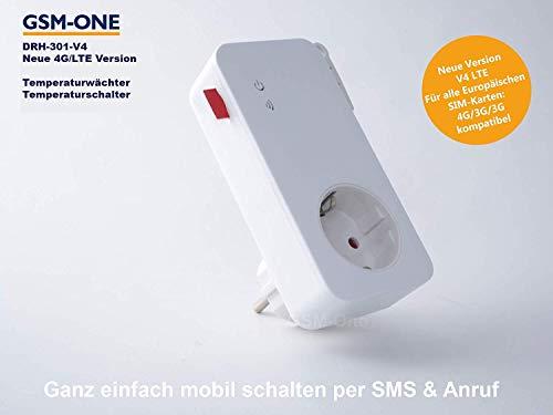 GSM Fernschalter,Temperaturwächter, HITZEWÄCHTER, DRH-301-V4(Master), 4G/LTE mit APP Steuerung