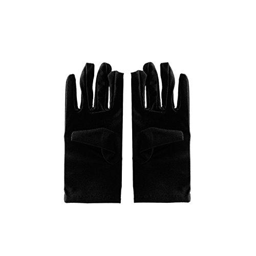 ESYN Gant de conduite pour femme Full Finger anti UV gants de protection solaire Spandex pour le vélo Black