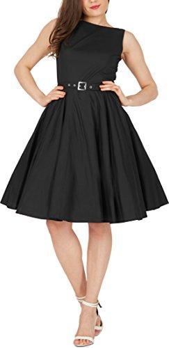 Black Butterfly 'Audrey' Vintage Clarity Kleid im 50er-Jahre-Stil (Schwarz, EUR 36 – XS) - 5
