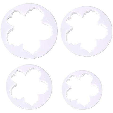 Peony pétalos de flores molde del molde del cortador de la pasta de azúcar de Sugarcraft Torta de la galleta de la decoración DIY