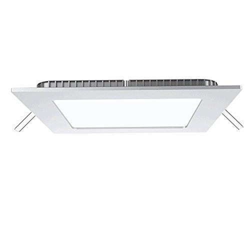 V-TAC SKU. 4865Downlight LED Auflaufform quadratisch 6W vt-607, Kunststoff, und andere Material, 6W, Weiß, Höhe x Breite x Tiefe: 120mm x 120mm x 25mm