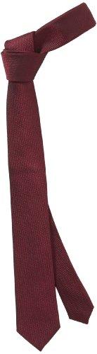 monti-cravatta-uomo-rosso-rot-seidenkrawatte-6cm-bordeaux-taglia-unica