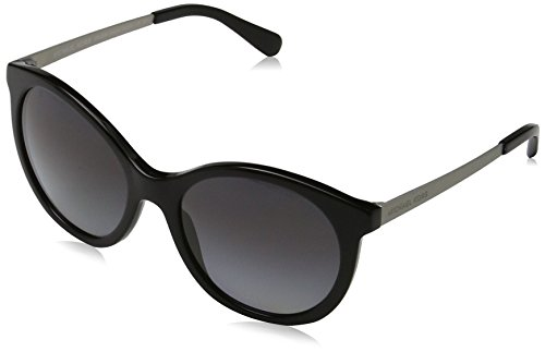 Michael Kors Damen ISLAND TROPICS 3204T3 55 Sonnenbrille, Black/Matte Silver Iridescent/Greygradientpolarized,