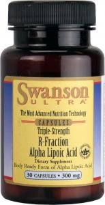 Swanson Ultra Triple Strength R-Fraction Alpha Lipoic Acid (300mg, 30 Capsules)