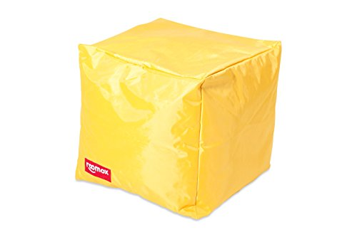 ROOMOX Cube Lounge-Seat, Tela, Giallo, 40x40x40 cm