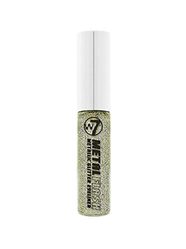 W7 Metal Flash Metallic Glitter Liquid Eyeliner With Applicator - Glitzy