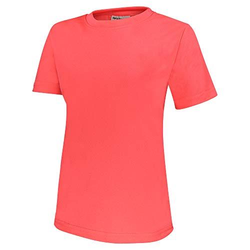 Alps to Ocean Sports Kinder Sportshirt Funktions T-Shirt Teamsport (schnelltrocknend, atmungsaktiv), Größe:116, Farbe:Neon Pink