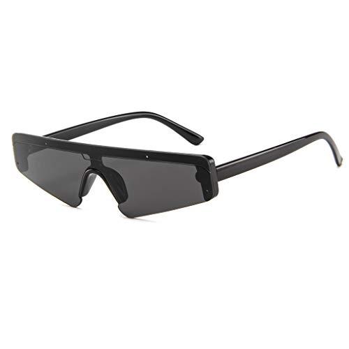 LCLrute Sonnenbrillen,Unisex-Platz Kleiner Rahmen Sonnenbrille Retro Sonnenbrille Art und Weise Sunglass Verspiegelt UV-Schutz