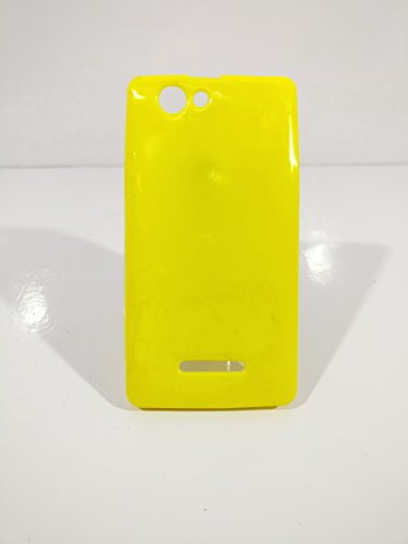 iCandy™ Colorfull Thin Soft TPU Back Cover For Xolo A500S - Yellow  available at amazon for Rs.99