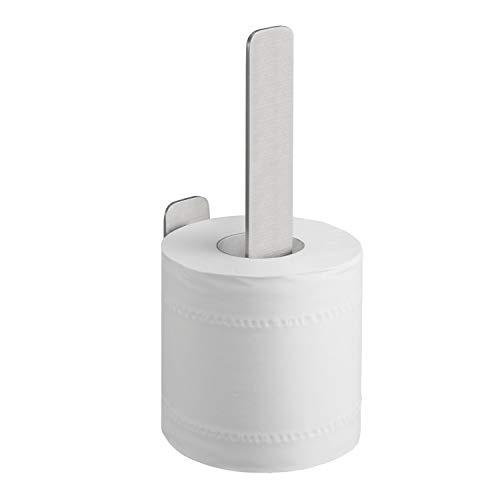 WEISSENSTEIN WC-Ersatzrollenhalter - Toilettenpapierhalter Edelstahl ohne bohren - Rollenhalter Wand selbstklebend
