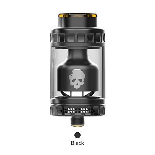 DOVPO BLOTTO RTA E Zigarette Verdampfer 2ml Top Refill Mit Glas Blase Tube 6 ml, Vapever Atomizer 2ml-Ohne Nikotin Ohne Tabak(Schwarz)