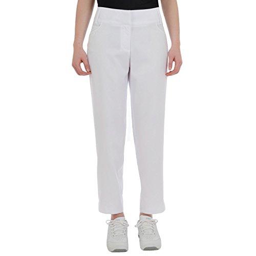 adidas Damen Golf-Hose - Kurzer 3/4-Capri-Stil - Climalite - Gr. 34 - Weiß (Adidas Kurze Damen Golf)